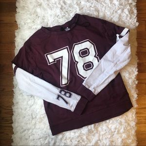 H&M Divided football long sleeve top.